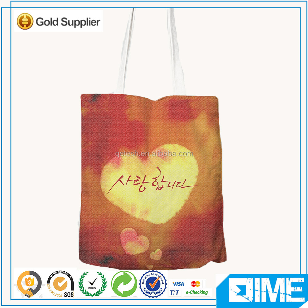 2016 custom printed stylish canvas tote bags