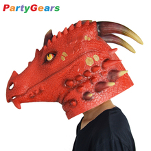 Animal Accessories Costumes Halloween China Factory Supply Latex Dragon Mask