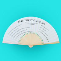 Cheap and Fancy Wedding Invitation Favors Personalized Hand Held Fans Bulk PDZ-110