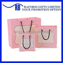 Hot selling OEM customized cheap recycled gift paper bag for promotional gift