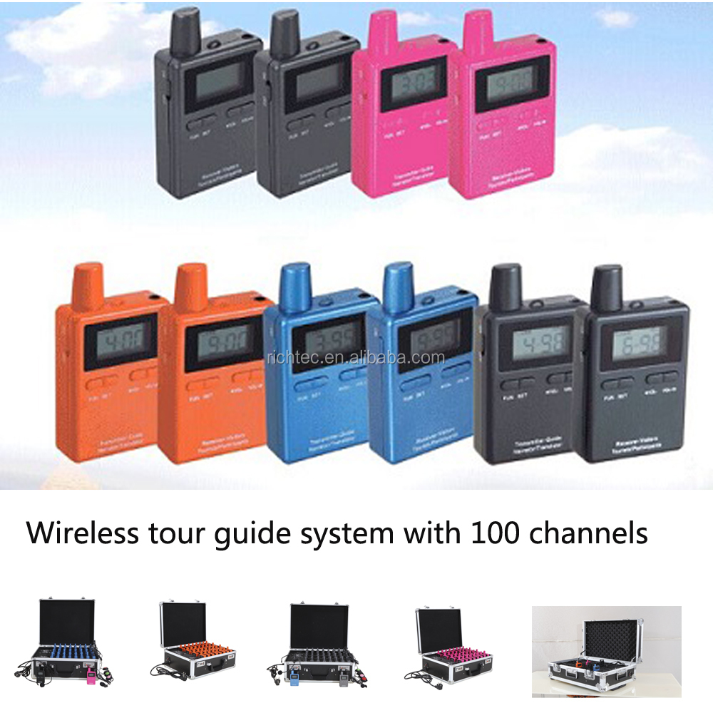 UHF wireless radio communication system for conference or training
