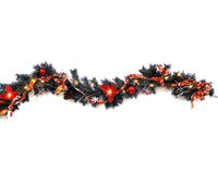 6 ft Pre-lit LED Light Decorated Artificial Christmas Garland