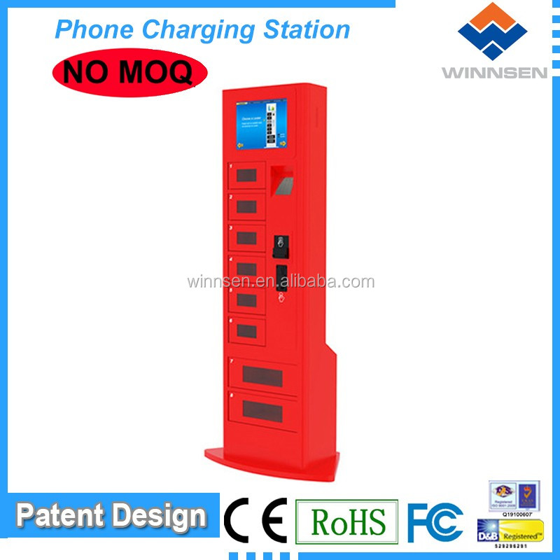 Self Service High Security Fast Charging 8 doors Quick charge mobile station/cell phone charging kiosk/station APC-08B