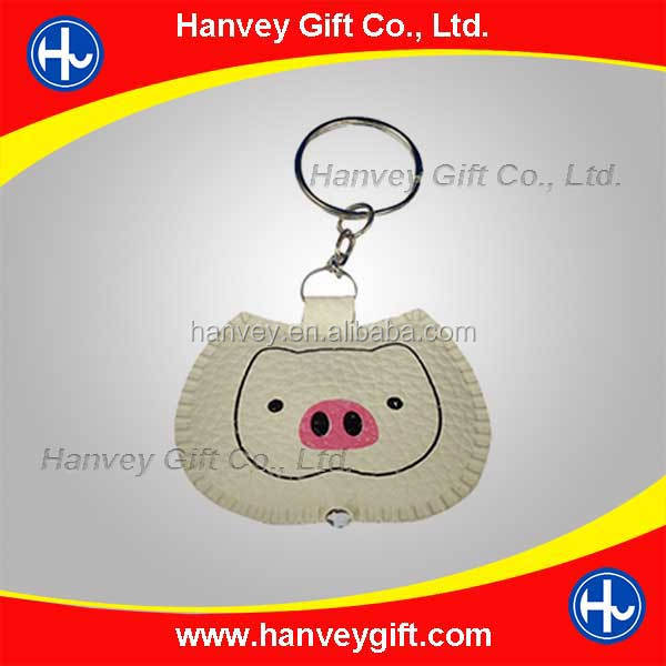 2015 newest custom printed acrylic charms/acryklic keychains/pig shape key ring