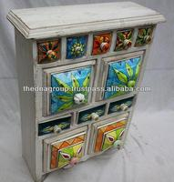 Wooden Box ceramic spice drawers