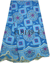 CL8149-4 embroidery big cotton with stone lace