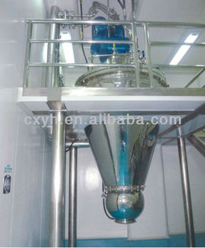 Helical ribbon with internal heating cone type vacuum drier