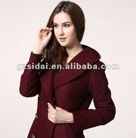 wool winter dress coat wiith long sleeves, women winter coat