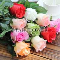 ASBR20170302005 artificial flower single stem rose high quality silk flowers