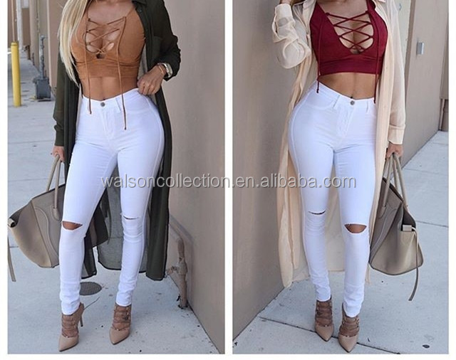 ripped jeans women Jeans wholesale China factory