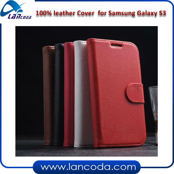 2013 New Stylish Mobile Phone Leather Case for Samsung Galaxy S3 leather phone case