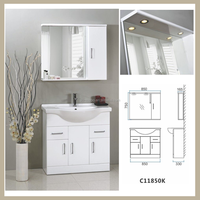 best Solid Wood Bathroom Cabinet and basin