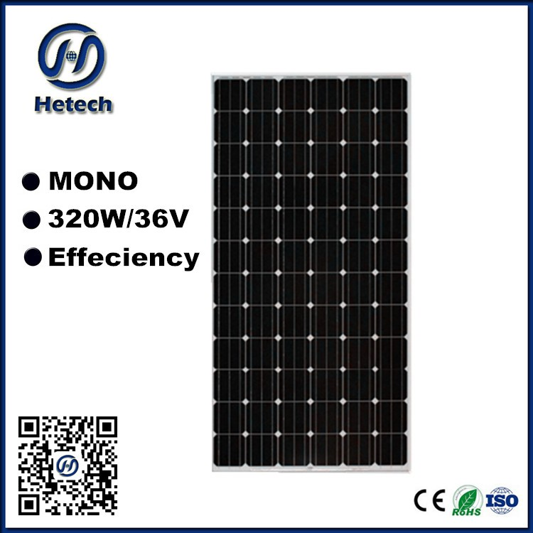 High efficiency A Grade mono crystalline 72 cells 290w 300w 310w 320w solar panel / module