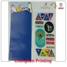 3D Changeable Motion Moving Lenticular Sticker