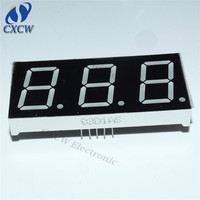 Made in china 0.8 inch Red CC CA 7 segment led display 3 digits