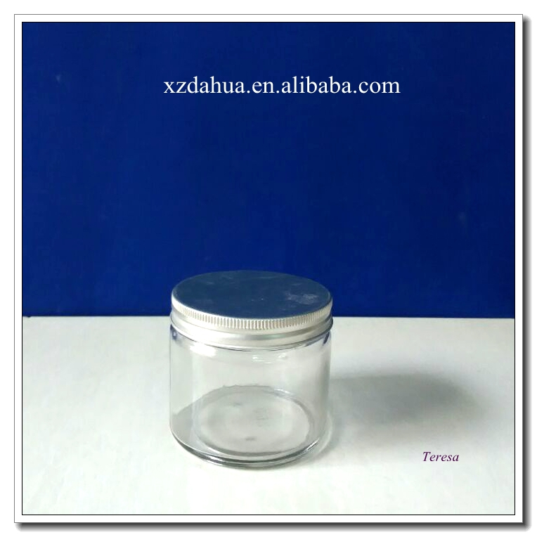 16oz 8oz 4oz glass jar with metal lid