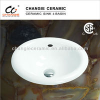 drop in basin,cupc & CSA approved,porcelain sink