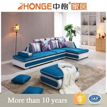 modern colorful sofas blue fabric reception sofa