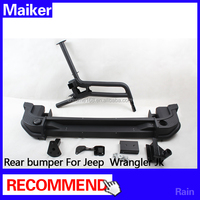 Rear bumper guard with spare tire rack for Jeep Wrangler JK 2015 off road parts