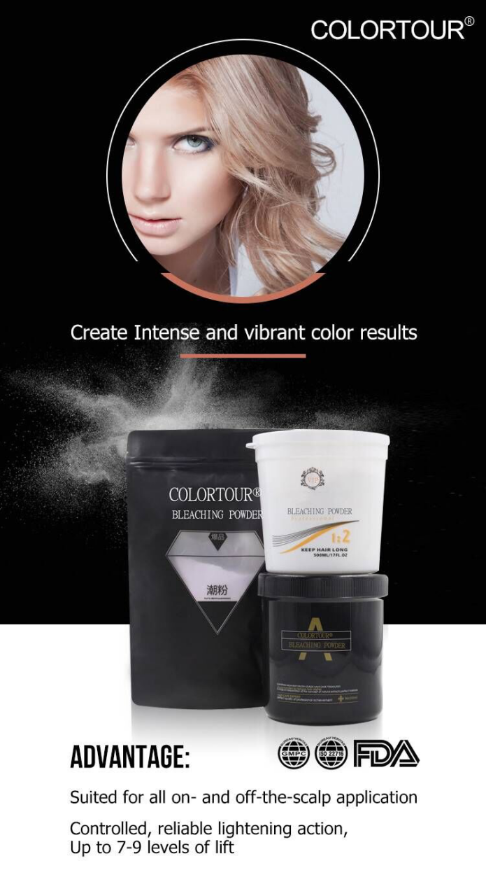Colortour Hot Sell Professional Salon Use No Ammonia Bleaching Powder