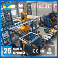 QT15-15 Mould vibration hydraulic automatic machine making concrete paver block