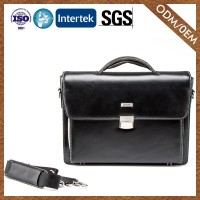 Supplier Hot Sale Get Your Own Custom Leather Crossbody Briefcase Bussiness Hotsale Leather Man Briefcase
