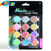 Toys 2015 12*5ml Non-toxic Wholesale Acrylic Paint Sets Cheap Portable Kids&Artists A0101