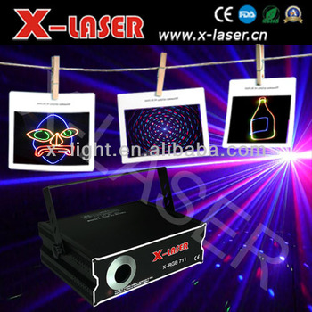 2W full color RGB animation laser light display/stage light effects/lazer light show