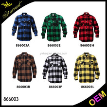 Wholesale plaid flannel shirt with cheap price and different colors