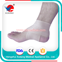 white autohension ankle brace for physical, sport ankle protection with kintting fish ribbons for sale