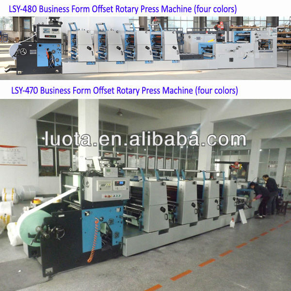 roll-fed offset printing machine LSY-470 business form ofset rotary press machine