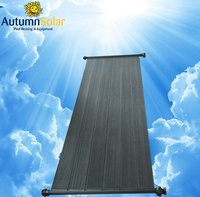 automatic hard plastic DIY Homemade pool solar heating collectors