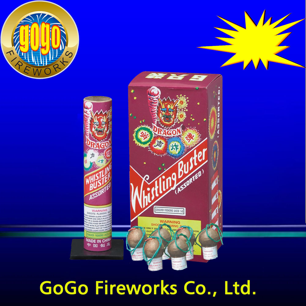 "Powerful fireworks 1.75"" whilstling buster artillery shells packing 12/6 professional and standard 1.4g un0336 fireworks"