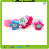 2015 Newst design star shaped silicone slap watch