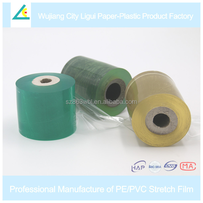 LG10 Moisture proof industrial plastic wrap manual stretch film