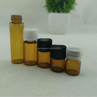 1ml 2ml 3ml 4ml 5ml small glass vials sample mini essential oil bottle glass roll on bottle