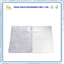 PP CD Sleeve For Six Discs With Four Holes On The Sides For Ring Binder CD Sleeve