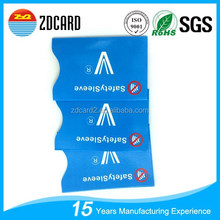 Service Rfid Blocking Secure bank card Sleeve /rfid credit card case
