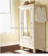 Cheap Wooden Hanging Clothes Storage Cabinet Home Furniture Design