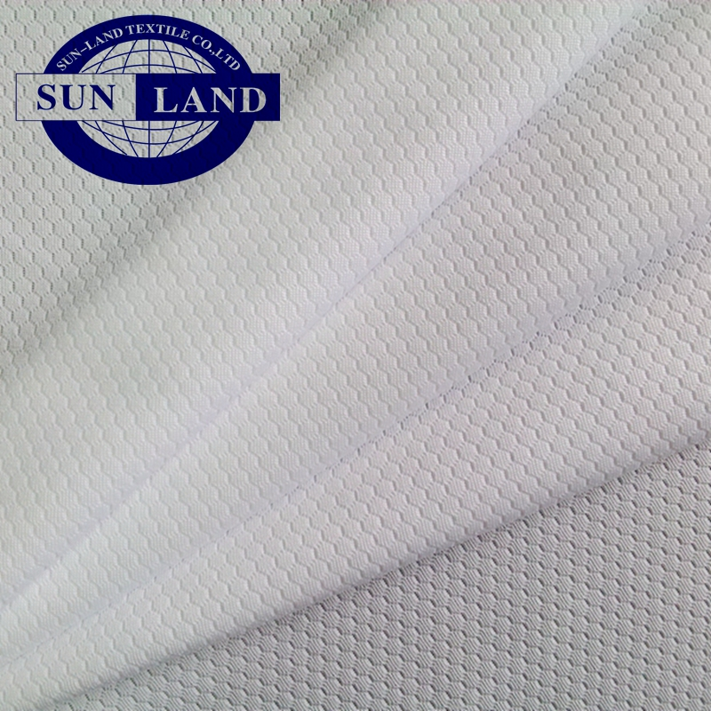 summer sportswear training tops shirt clothing white sublimation printed use 100 polyester dri fit honeycomb knitted mesh fabric