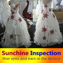 wedding dresses quality control inspection service in Suzhou