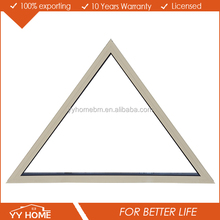 YY Home Made in China Hot Sale aluminium triangle fixed window with AS2047