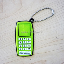 new arrival reflective pvc keychain in mobile phone shape
