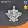 decorative clear star shaped glass water jug with glass lid