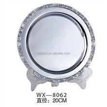 promotion gift items stainless steel metal blank stock souvenir plate