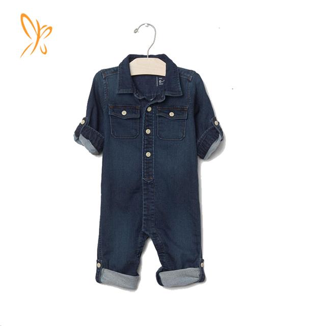 Alibaba Gold Supplier New arrive one piece baby denim jumpsuit
