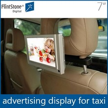 Flintstone 7 inch lcd taxi advertising display pos merchandise display oled displays advertisement product