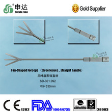 Highly accurate instrument Advanced Laparoscopic Medical reusable five leaves straight handle Fan-shaped forceps