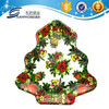 Plastic dinner set melamine tray,tree shape christmas tray,plastic plate