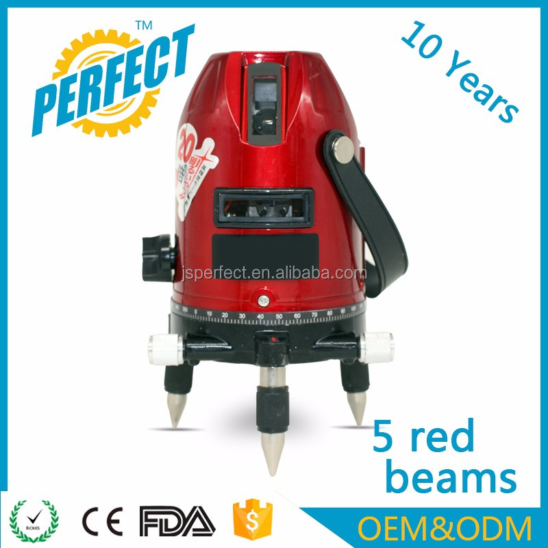 OEM best red crossline plastic high power laser levels construction